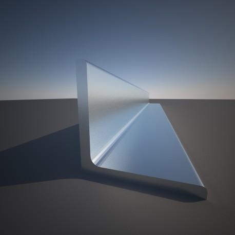 Hoekstaaf ongelijkzijdig 40 x 20 x 3